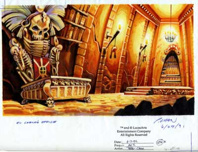 Bureau du pirate LeChuck Monkey Island