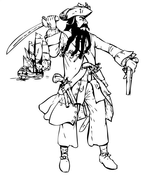 Coloriages de pirates imprimer galerie photo pirates corsaires - Dessins de pirates ...