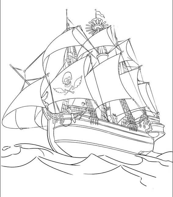 Coloriages de pirates imprimer galerie photo pirates - Coloriage bateau de pirate ...