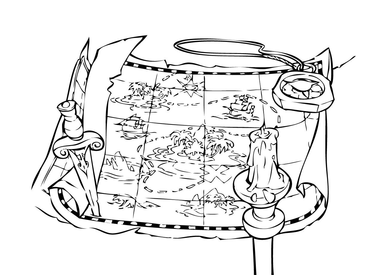 Carte Au Tresor Noir Et Blanc.Coloriages De Pirates A Imprimer Galerie Photo Pirates