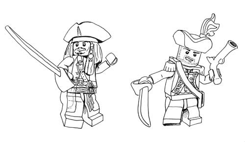 Coloriages de pirates imprimer