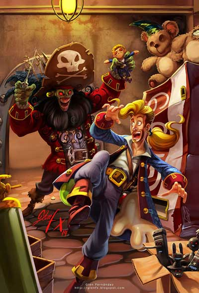 Fan Art par Glen Fernandez Monkey Island