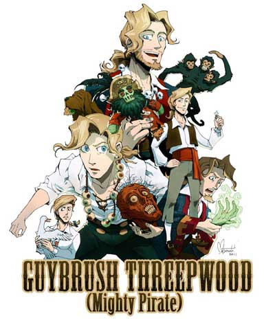 Guybrush Threepwood the mighty pirate par Spacecoyote Monkey Island