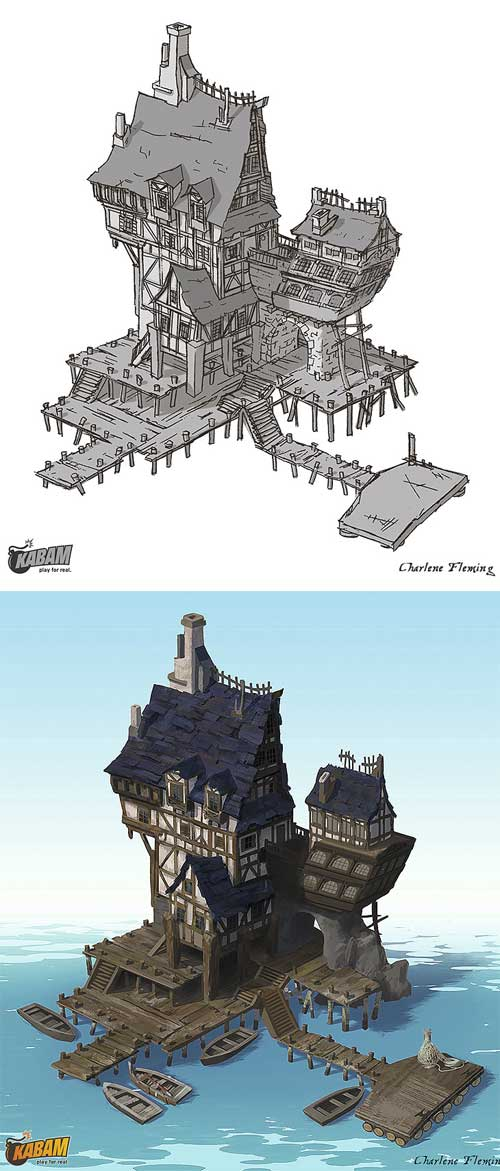 The Guild Hall, Charlene Fleming Les maisons & îles de pirates