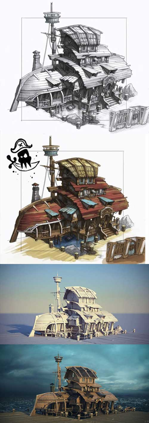 Pirate's Nest, João Jacinto Les maisons & îles de pirates