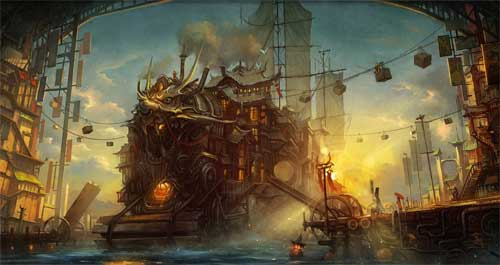 Asian ship - Ian Mcque - Steampunk pirates