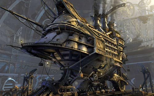 Chantier naval - Steampunk pirates