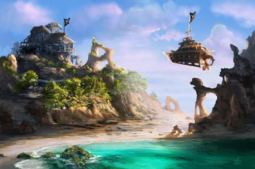 Island - Steampunk pirates