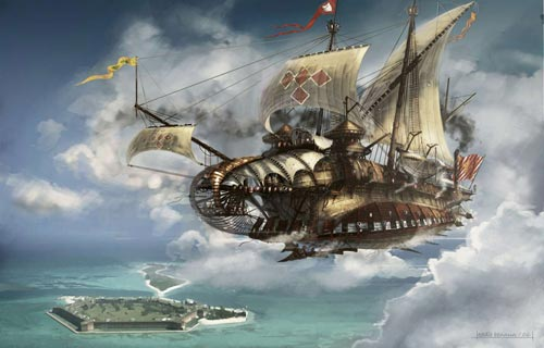 Ship of the line - Steampunk pirates
