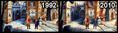The Secret of Monkey Island 2, avant (1992) et après (2010)