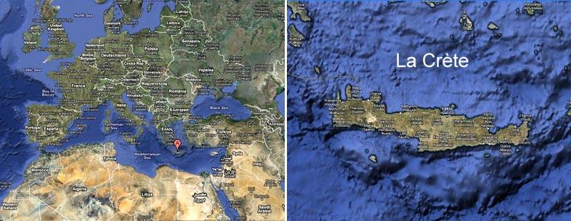 de recherches archéologiques sur l'île de Crète, au sud de la