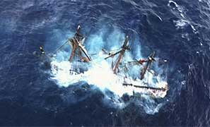 Le HMS Bounty coulé par le cyclone Sandy