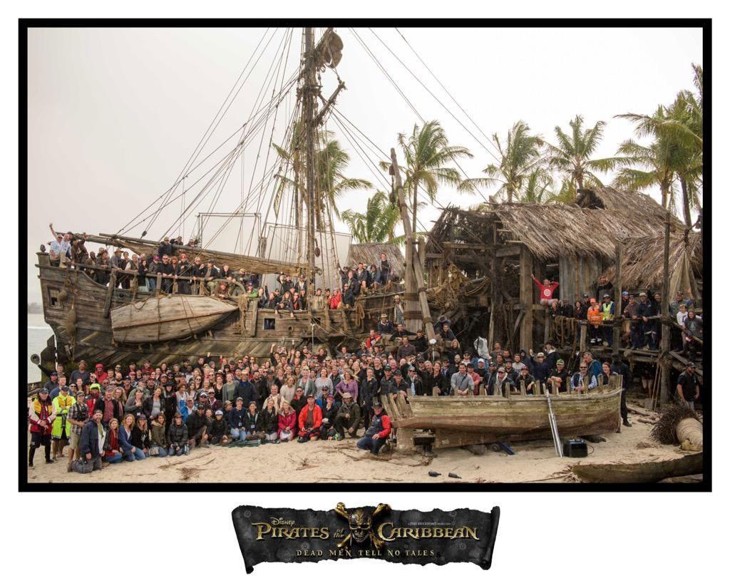 L'équipe de Pirates des Caraïbes au complet